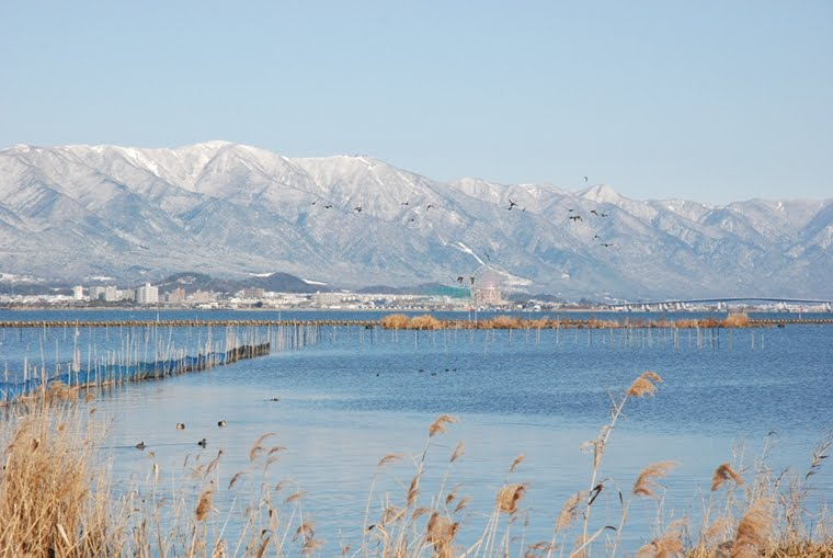 The south basin of Lake Biwa